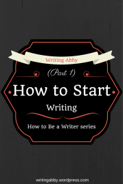 Do you want to start writing, but have no idea on how to get started? Check out this post on Writing Abby for some tips on how to get started. How to Start Writing // Writing Abby