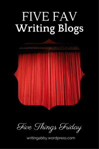 Need some new writing blogs to subscribe to? Looking for some great information on writing? Check out this post on Writing Abby for some interesting blogs on writing. Five Things Friday: Five Fav Writing Blogs // Writing Abby